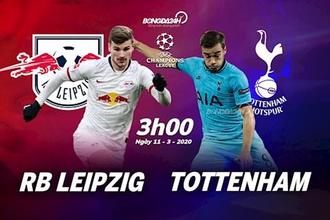 Leipzig vs Tottenham luot ve vong 1/8 Champions League