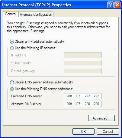 cách đổi DNS xp setup 1