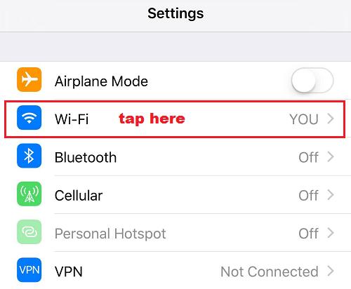 Wifi trên iphone