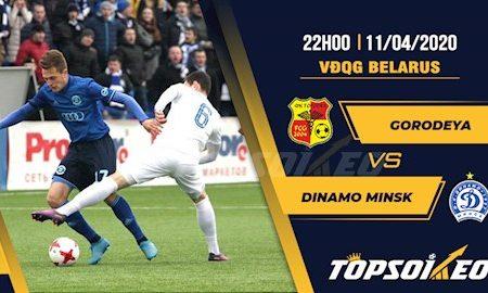 M88 Soi Kèo bóng đá Gorodeya vs Dinamo Minsk 22h00 ngày 11/4 (VĐQG Belarus 2020)