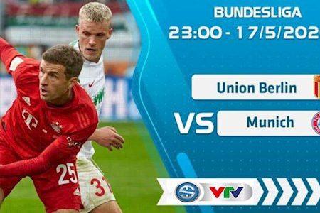 M88 Soi Kèo bóng đá Union Berlin vs Bayern Munich 23h00 ngày 17/5 (Bundesliga 2019/20)