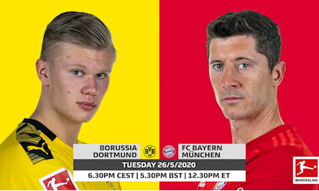 M88 Soi Kèo bóng đá Dortmund vs Bayern Munich 23h30 ngày 26/5 (Bundesliga 2019/20)