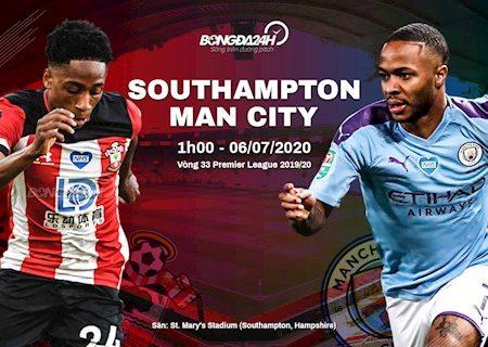 Fun88 Soi Kèo bóng đá Southampton vs Man City 1h00 ngày 6/7 (Premier League 2019/20)