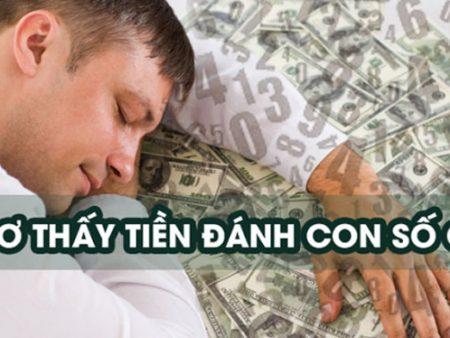 Ngủ mơ thấy tiền thì đánh con gì?