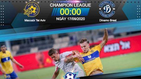 M88 Soi Kèo bóng đá Maccabi vs Dinamo Brest 0h00 ngày 17/9 (Champions League 2020/21)
