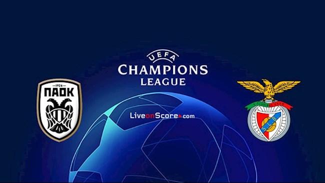 M88 Soi Kèo bóng đá PAOK vs Benfica 1h00 ngày 16/9 (Champions League 2020/21)