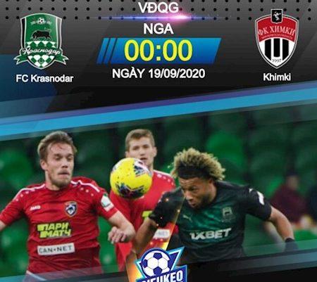 M88 Soi Kèo bóng đá Krasnodar vs Khimki 0h00 ngày 19/9 (VĐQG Nga 2020/21)