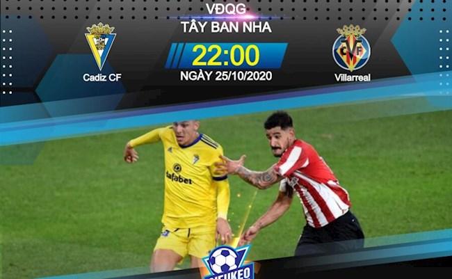 188Bet Soi Kèo bóng đá Cadiz vs Villarreal 22h00 ngày 25/10 (La Liga 2020/21)