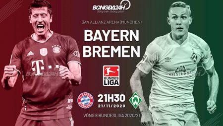 M88 Soi Kèo bóng đá Bayern Munich vs Bremen 21h30 ngày 21/11 (Bundesliga 2020/21)