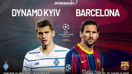 M88 Soi Kèo bóng đá Dynamo Kiev vs Barca 3h00 ngày 25/11 (UEFA Champions League 2020/21)