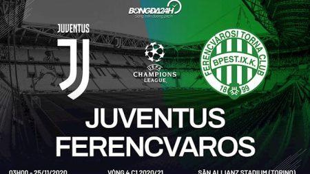 M88 Soi Kèo bóng đá Juventus vs Ferencvaros 3h00 ngày 25/11 (UEFA Champions League 2020/21)