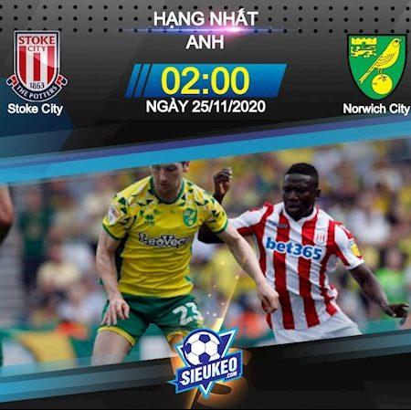 Fun88 Soi Kèo bóng đá Stoke vs Norwich 2h00 ngày 25/11 (Hạng Nhất Anh 2020/21)
