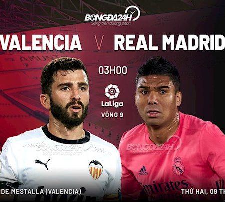 188Bet Soi Kèo bóng đá Valencia vs Real Madrid 3h00 ngày 9/11 (La Liga 2020/21)