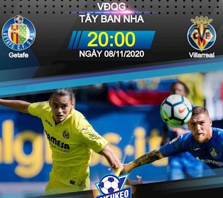 188Bet Soi Kèo bóng đá Getafe vs Villarreal 20h00 ngày 8/11 (La Liga 2020/21)
