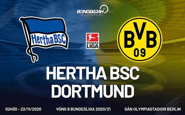 M88 Soi Kèo bóng đá Hertha Berlin vs Dortmund 2h30 ngày 22/11 (Bundesliga 2020/21)