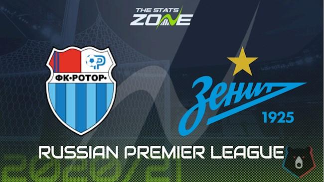 Rotor Volgograd vs Zenit 22h00 ngày 118 VĐQG Nga 202021 hình ảnh