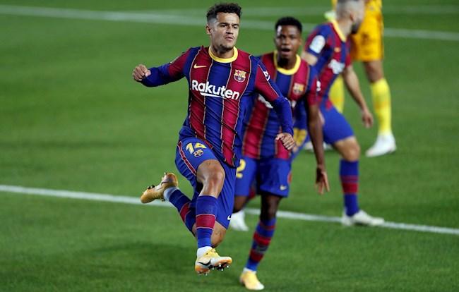 Coutinho go hoa cho Barca truoc Sevilla